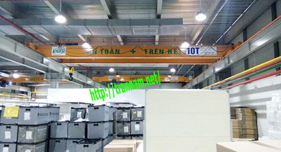 Cầu trục dầm đôi 10T tại Thanh Hóa