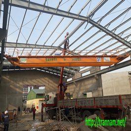 Cầu trục dầm đôi 5 tấn x 15m tại Phổ Yên – Thái Nguyên
