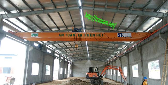 Cầu trục hai dầm 5 tấn tại Thái Nguyên