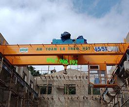 Cầu trục dầm đôi 45/5T tại Quế Phong – Nghệ An