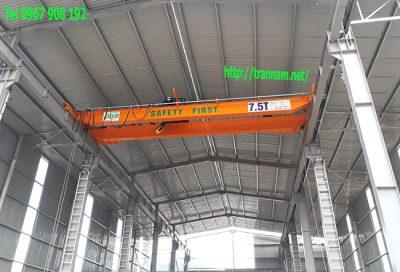 Lắp đặt cầu trục hai dầm 7,5 tấn tại thanh hóa