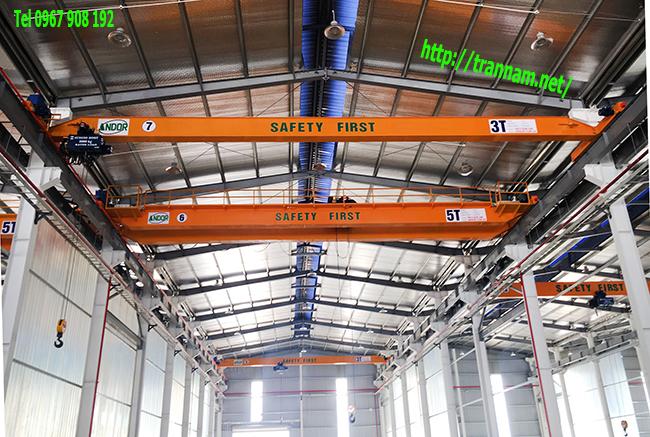 Lắp đặt cầu trục trong nhà công nghiệp