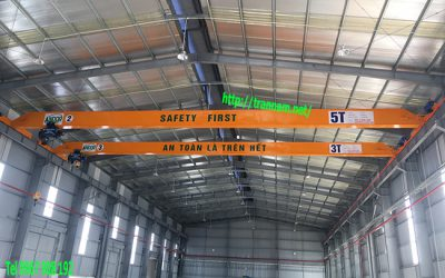 Chế tạo cầu trục dầm đơn cho nhà máy