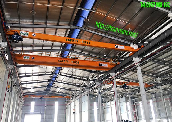 Lắp cầu trục trong nhà thép tiền chế