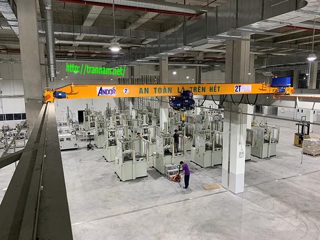 Bàn giao cầu trục dầm đơn 2 tấn tại Hòa Lạc