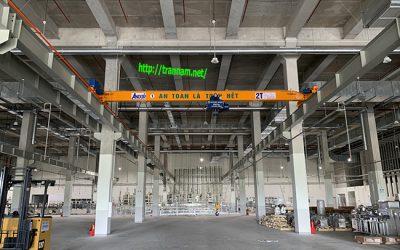 Cầu trục dầm đơn 2 tấn tại KCN Bình Xuyên