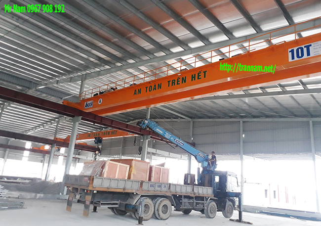 Cầu trục 10 tấn lắp tại Vĩnh Phúc