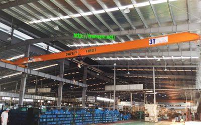 Cầu trục 3 tấn dầm đơn tại Vĩnh Phúc