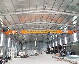 Cầu trục dầm đơn 5 tấn x 19.5m tại TP Nam Định
