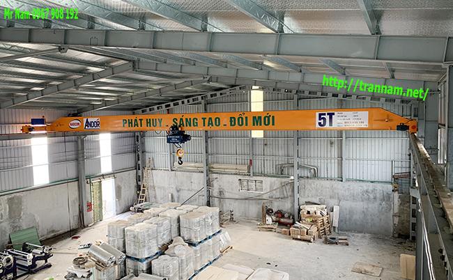 Cầu trục dầm đơn 5 tấn tại Nam Định