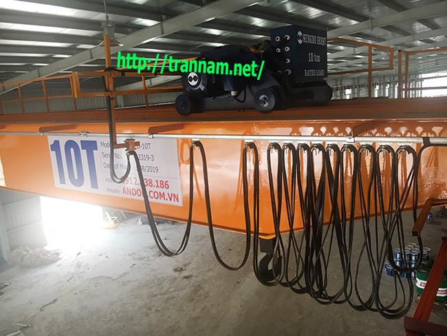 Lắp cầu trục 10 tấn dầm đôi tại Thái Nguyên