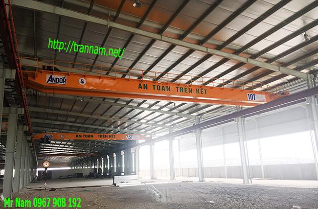 Lăp đặt cầu trục 10 tấn dầm đôi tại Thái Nguyên