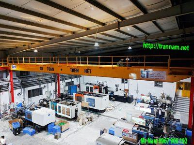 Lắp đặt cầu trục dầm đôi 5 tấn tại KCN Phúc Khánh – Thái Bình