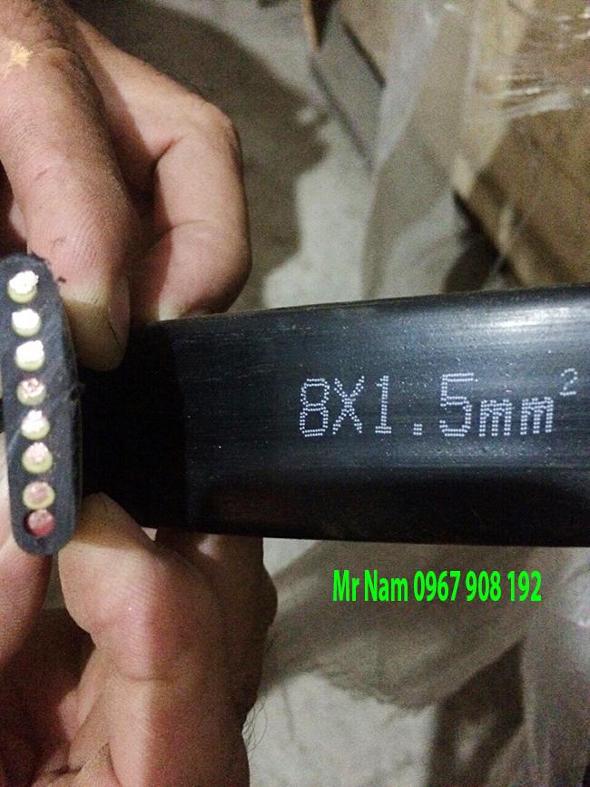 cáp điện dẹt 8Cx1.5mm
