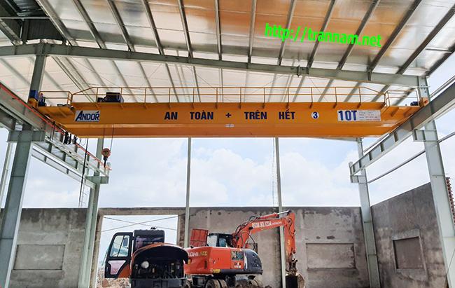Cầu trục 10 tấn lắp tại Nam Định