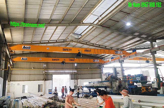 Chế tạo cầu trục dầm đơn tại Mỹ Hào Hưng Yên