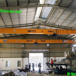 05 bộ cầu trục 3 tấn lắp tại Mỹ Hào – Hưng Yên
