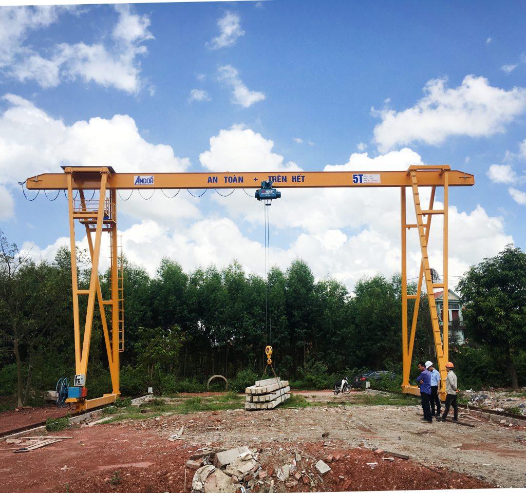Chế tạo cổng trục dầm đơn tại Bắc Giang