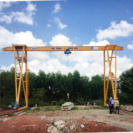 Cổng trục dầm đơn 5 tấn tại Lục Nam – Bắc Giang