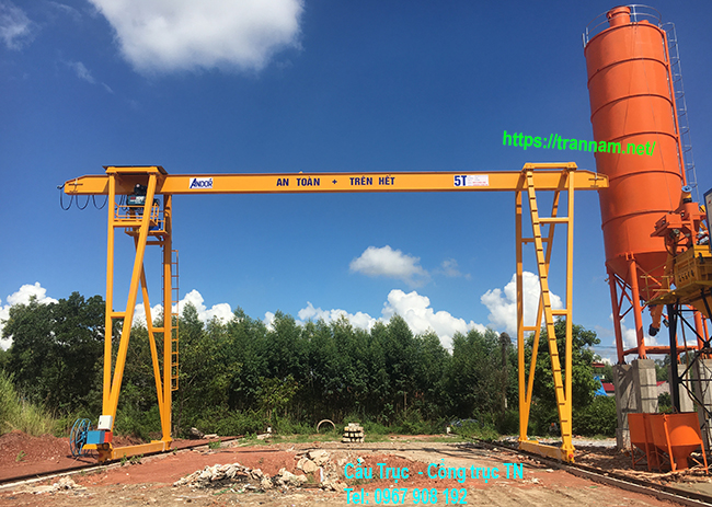 Cổng trục đơn 5 tấn tại Lục Nam - Bắc Giang